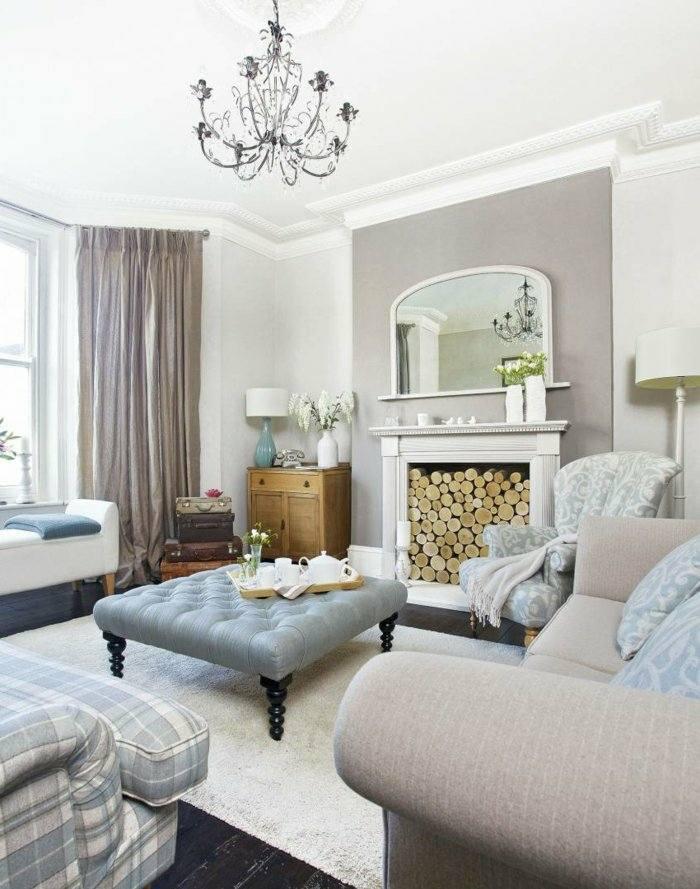 muebles salones paredes soluciones chimeneas troncos