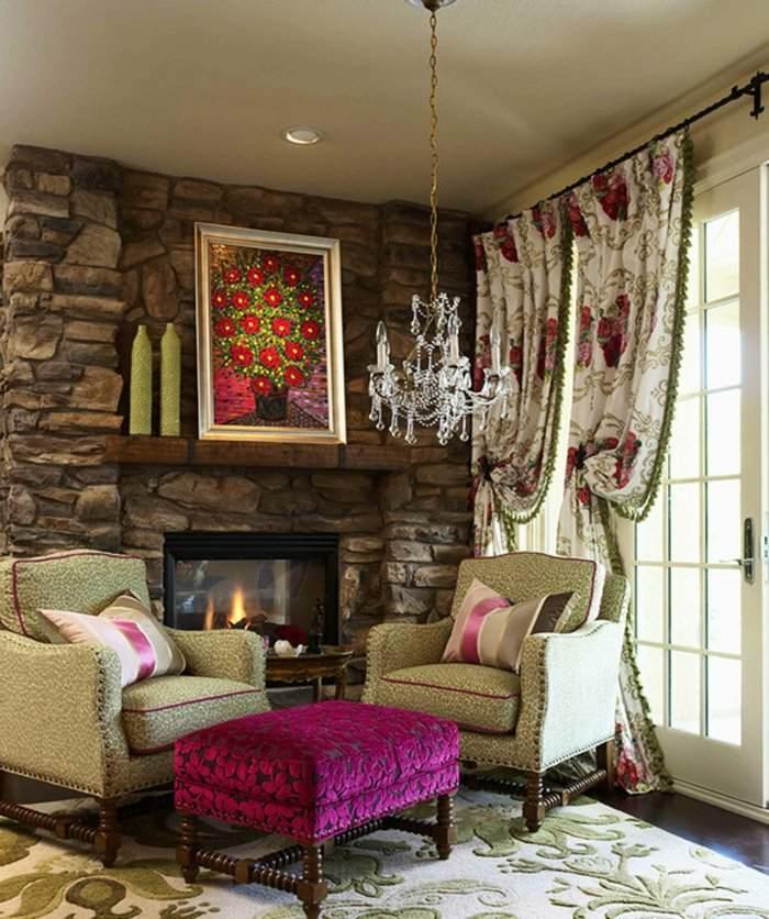 muebles salones paredes soluciones dorados flores