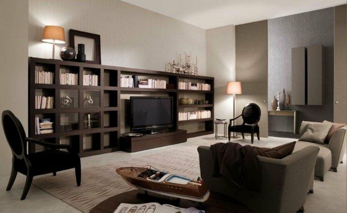 muebles salones paredes soluciones ideas lamparas