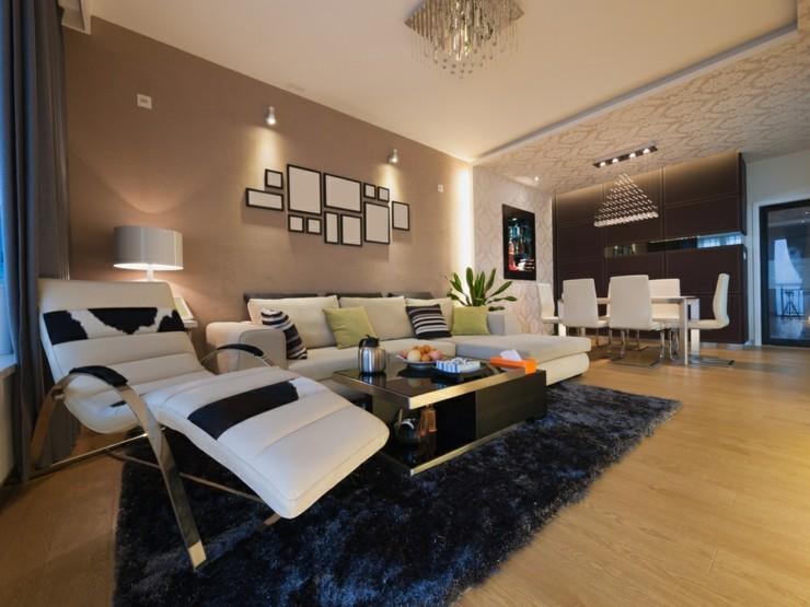 muebles tendecias variantes salones blanco