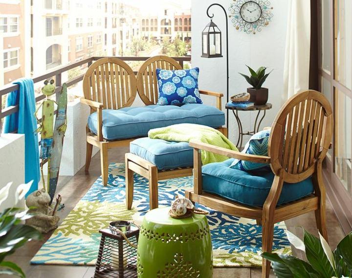 green turquoise terrace furniture