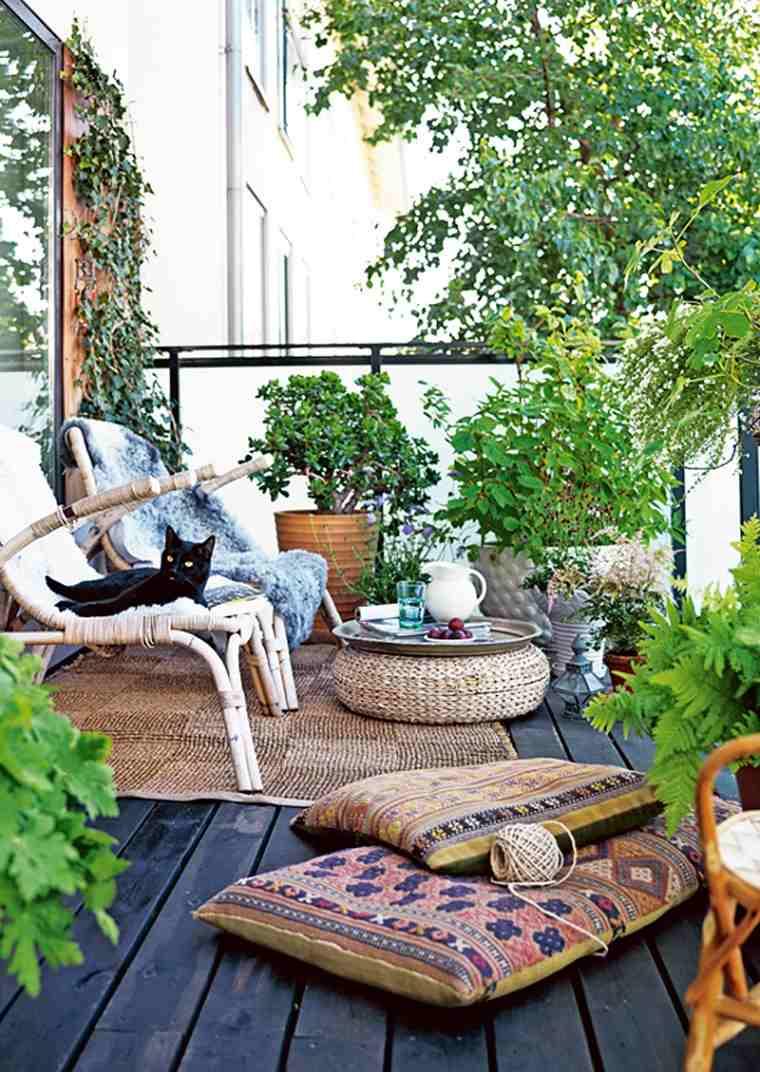 decoración terraza boho chic