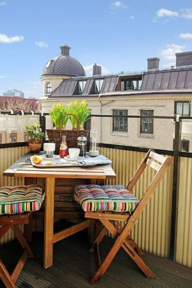 muebles de terraza diseño madera
