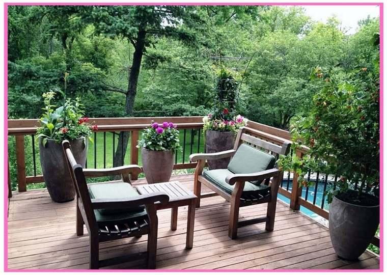 muebles terraza clásicos madera