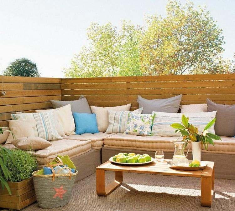 muebles terraza bonito diseño deco