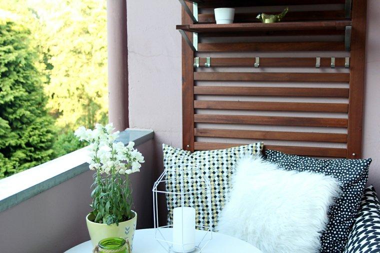 muebles terraza cojines colores