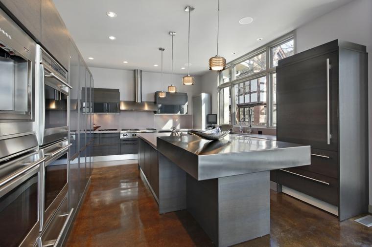 Muebles De Cocina Modernos. Beautiful Paredes Y Suelos En Cocinas ...