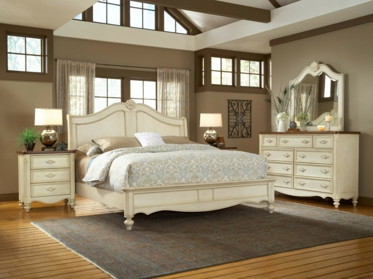 muebles conjunto retro de color beige