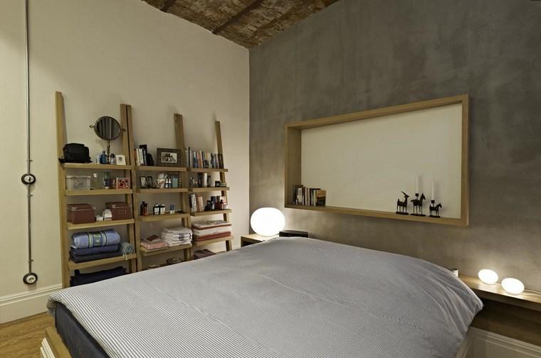 ofist design estanterias madera abiertas dormitorio ideas