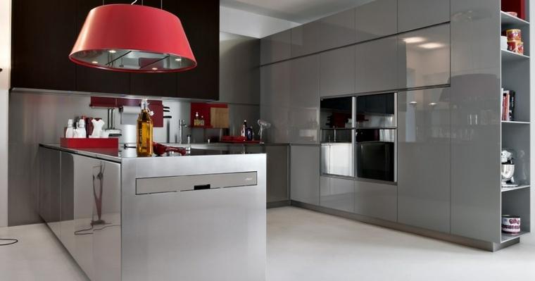 originales muebles cocina grises