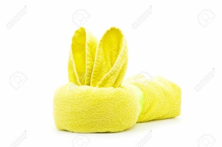 original conejo toalla amarilla