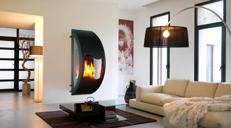original diseño chimenea Gaia