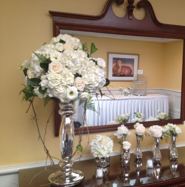 original decoraci´ñon flores blancas