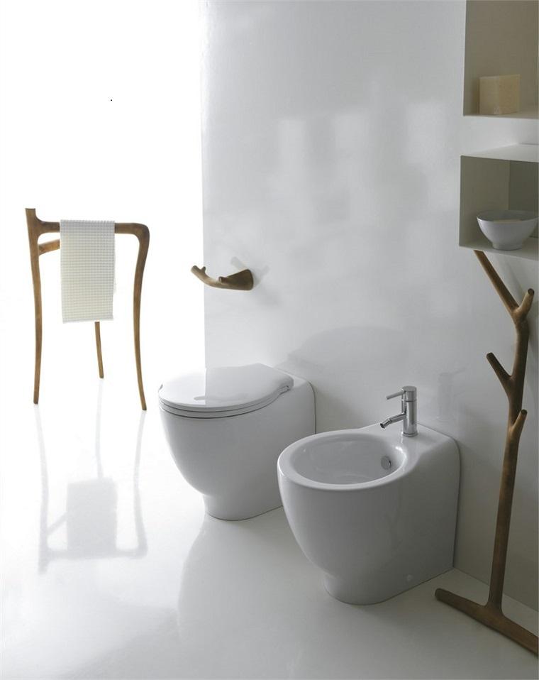 Muebles de ba o modernos de estilo r stico 49 modelos - Accesorios de bano en madera ...