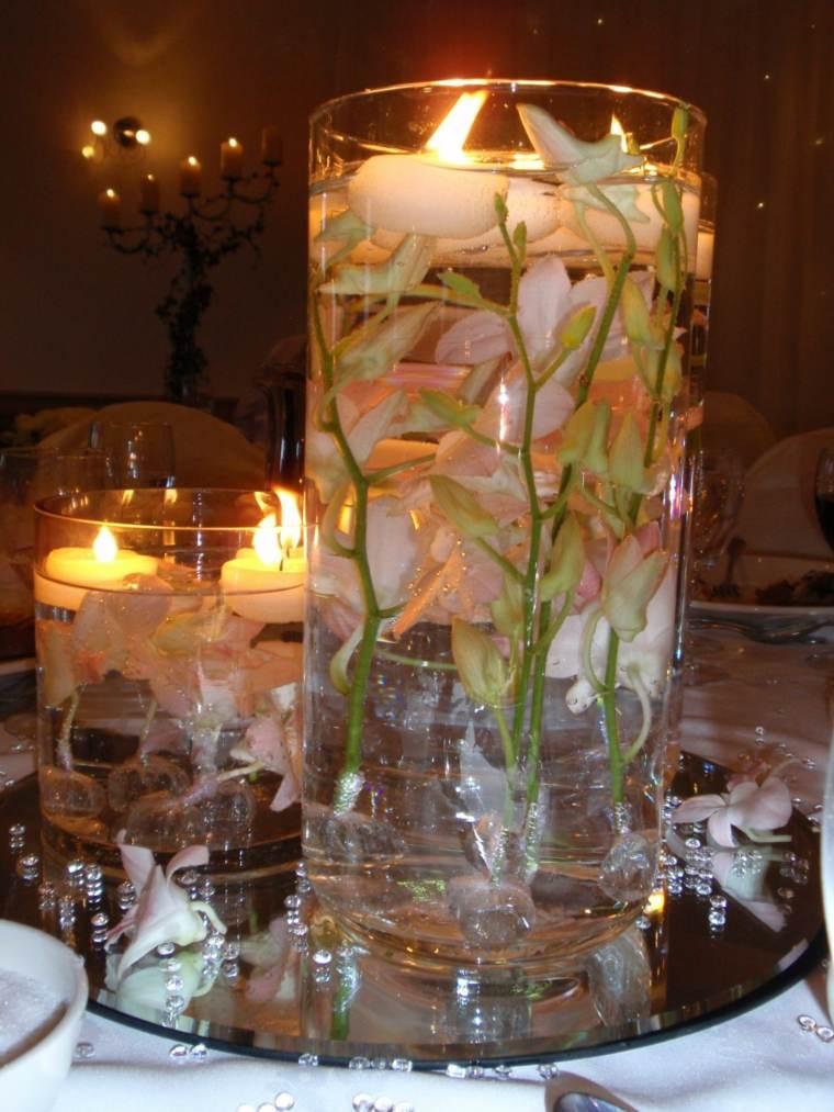 original centro mesa muchas flores
