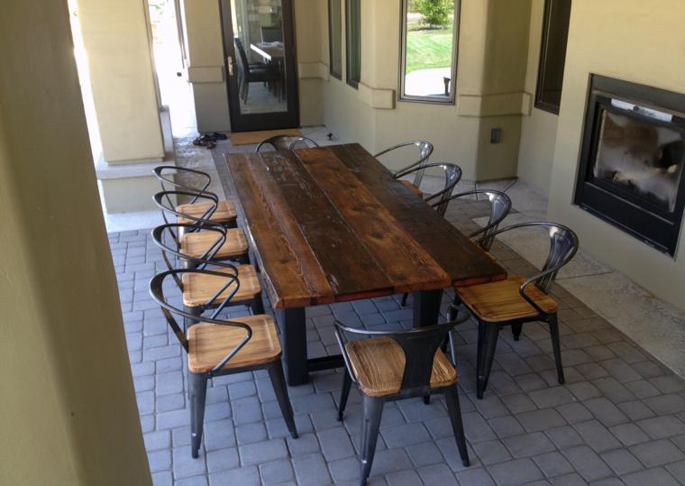 original conjunto muebles madera maciza