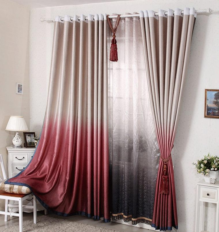 original diseo cortina colores difuminados