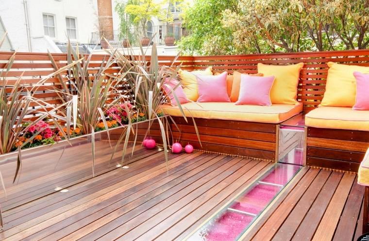 original decoracion terraza madera