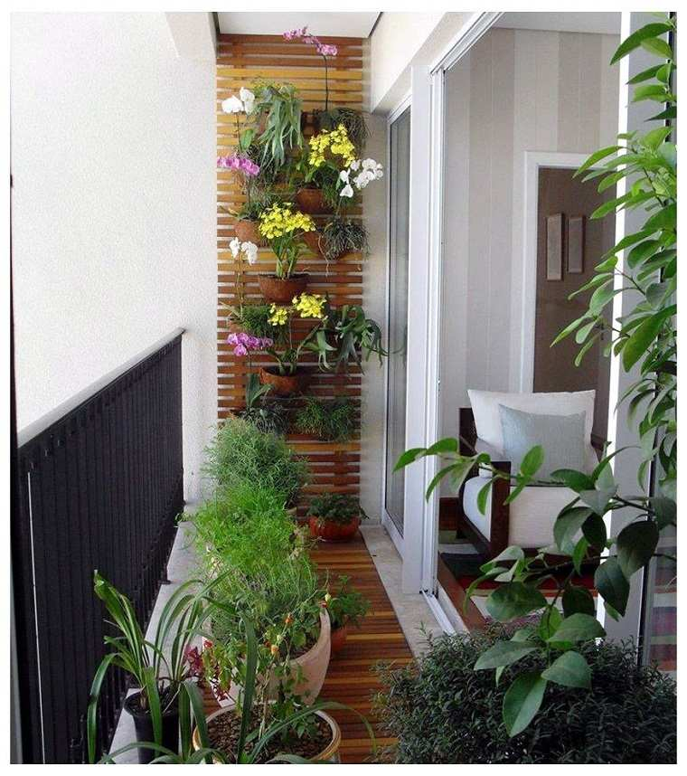 Decoracion de balcones y terrazas peque as 99 ideas for Jardines en balcones pequenos