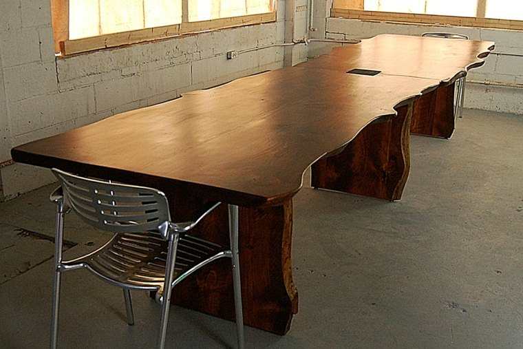 Mesas de comedor modernas de madera maciza 50 ideas for Mesas de comedor originales