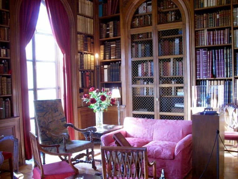 sala biblioteca estilo vintage