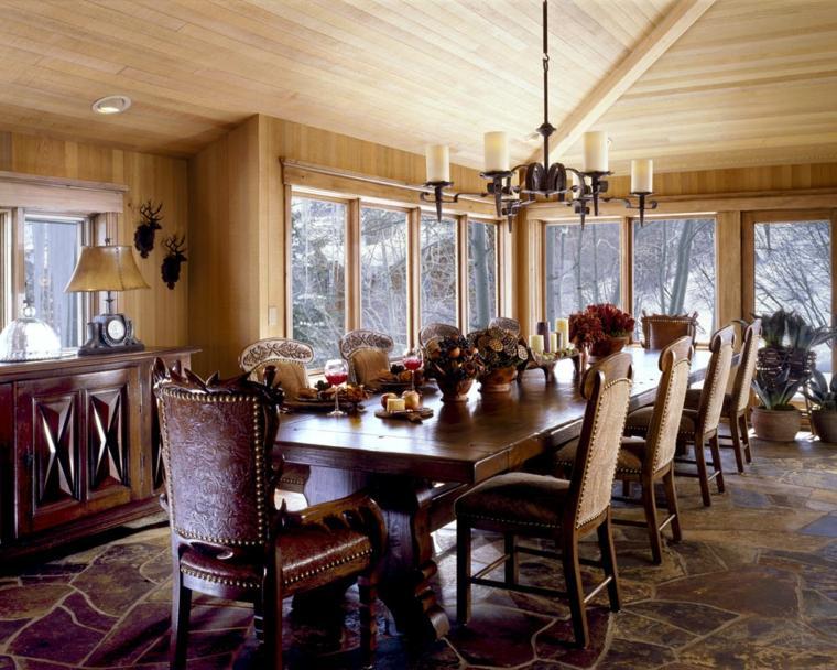 original disño salon casa madera