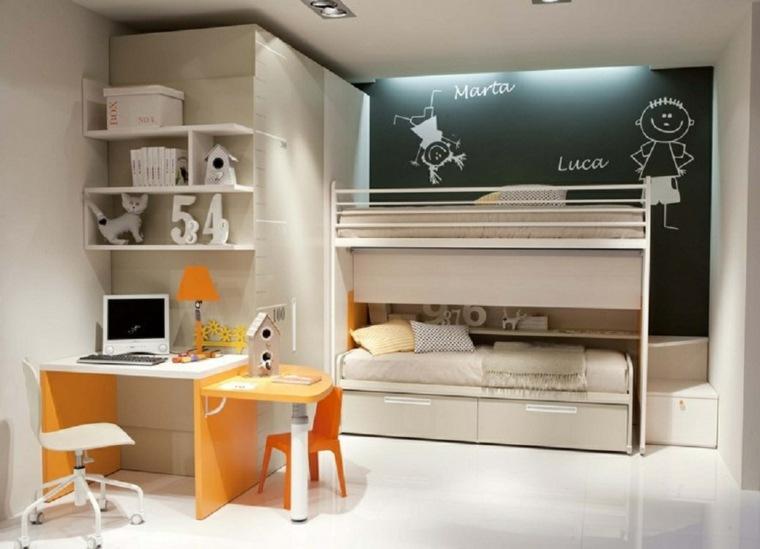 original diseño dormitorio infantil pizarra