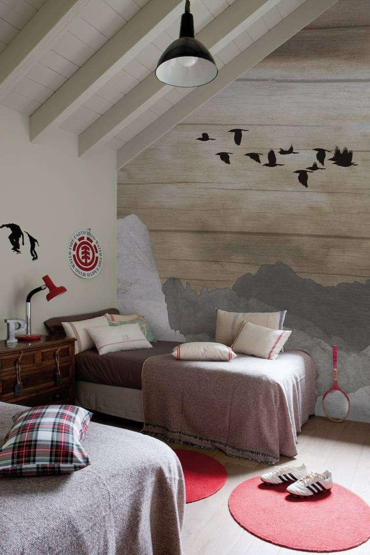 diseños papel pared habitación infantil