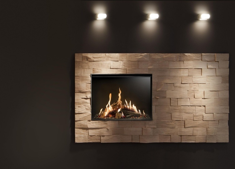original diseño marco chimenea madera