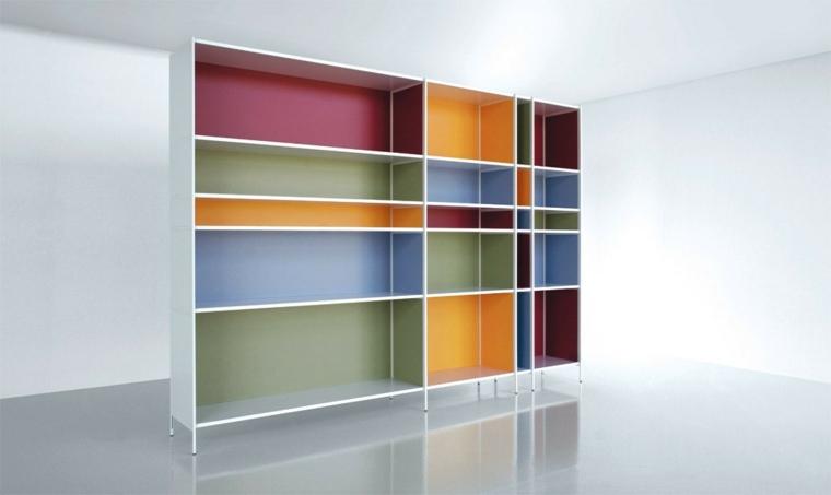 original diseño mueble estantes colores