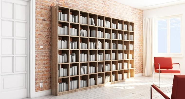 bibliotecas grandes para salas de estar modernas. Black Bedroom Furniture Sets. Home Design Ideas