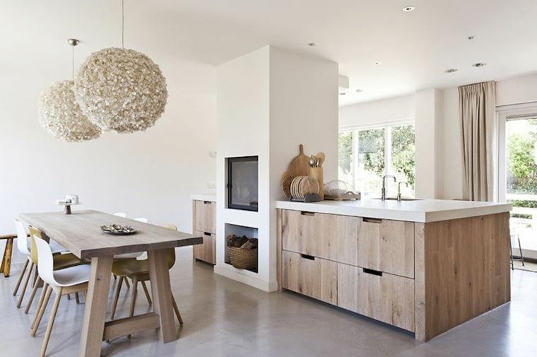 original diseño muebles cocina madera