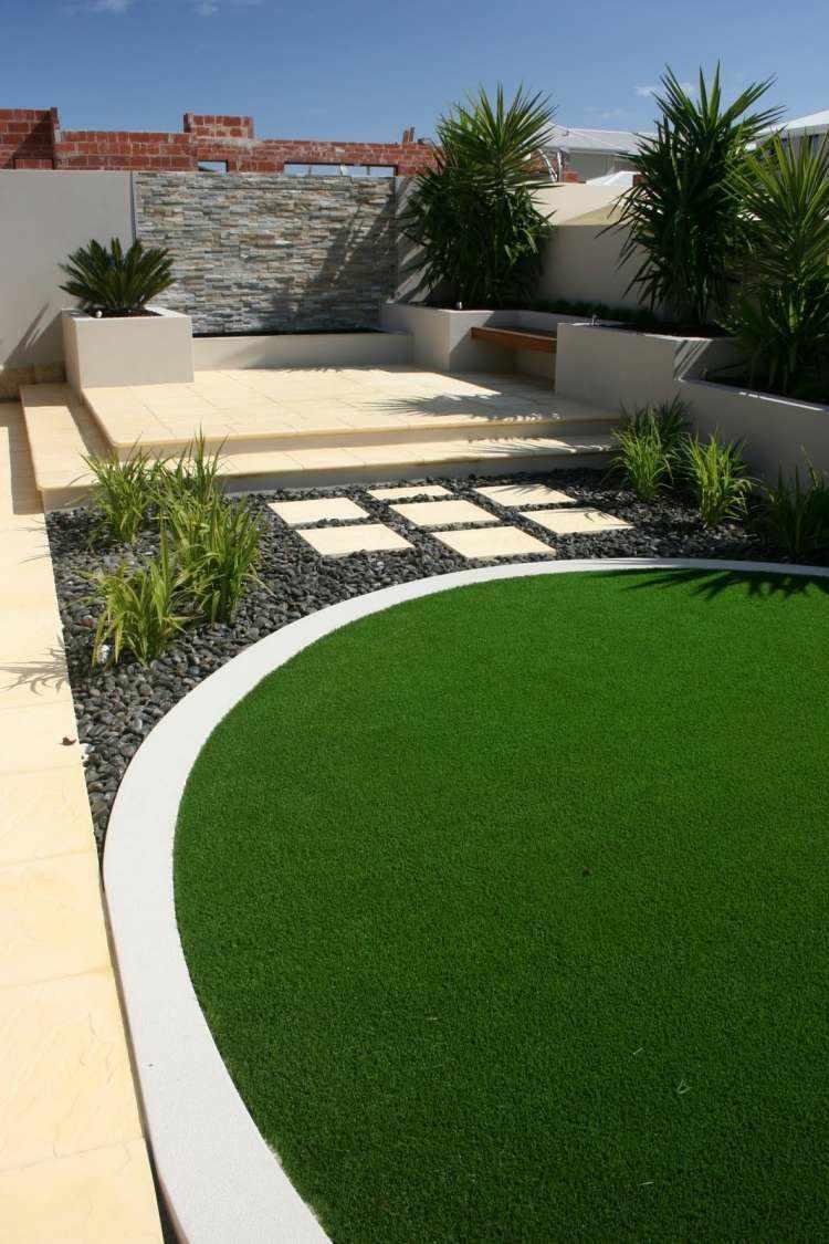 original design round plot lawn