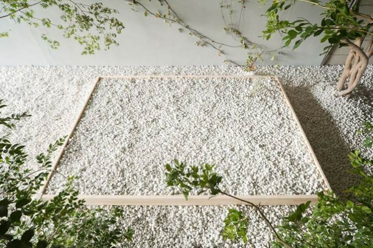 jardín arena gravilla caja