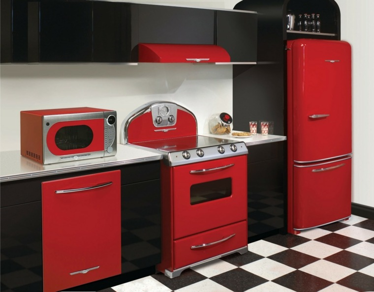 original diseño rojo negro retro