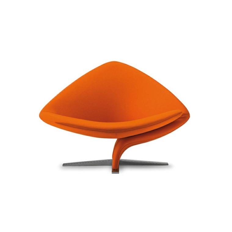 original diseño sillón color naranja