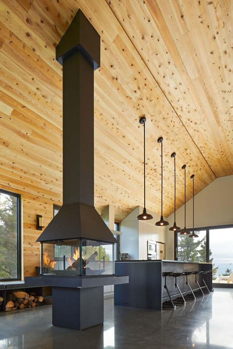 original diseño techo madera natural