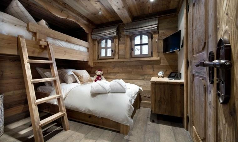 original diseño habitacion cabaña rustica