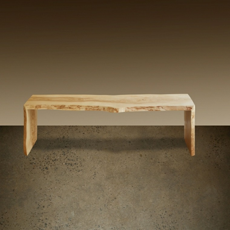 original mesa banco madera clara