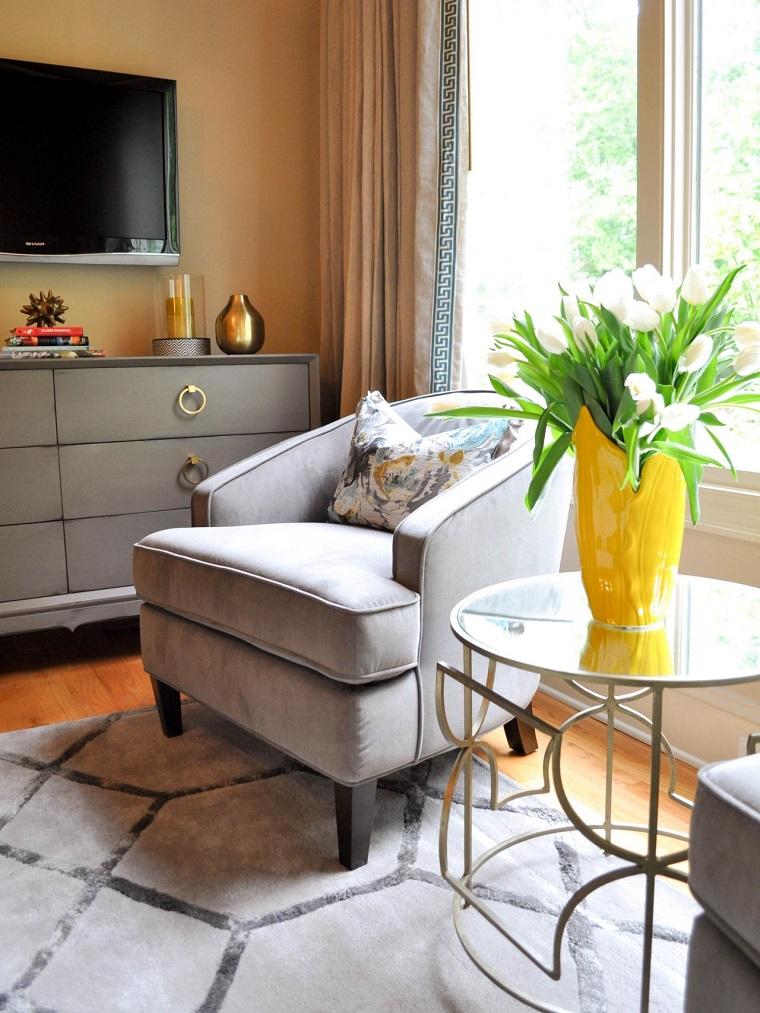 original sillón color gris