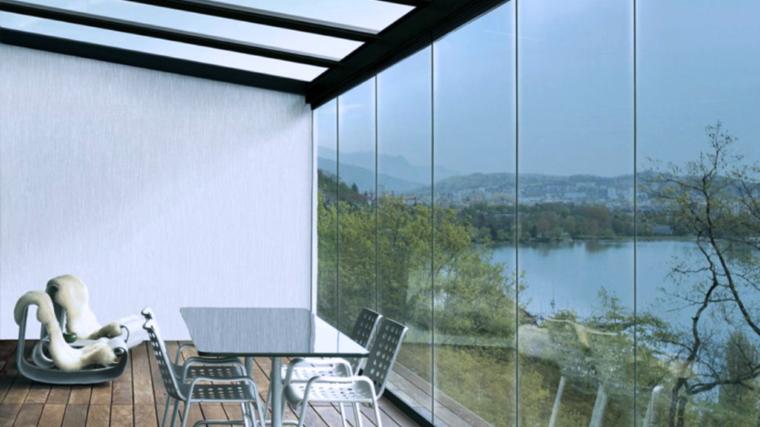 original terraza diseño cerrada moderno