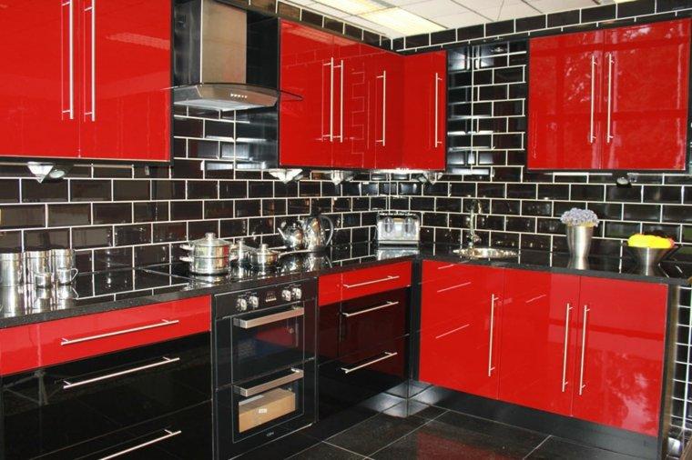 original cocina rojo negro