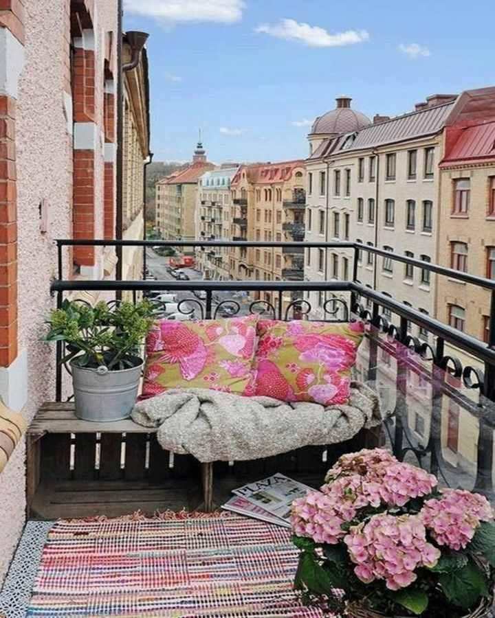 original pink terrace decoration