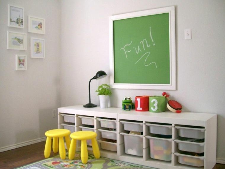 original diseño habitación deco taburetes-amarillos