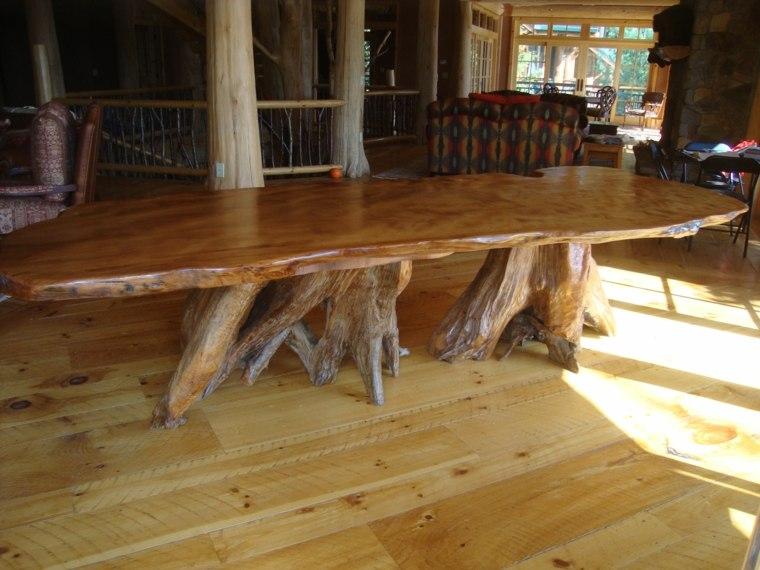 original diseño mesa madera natural