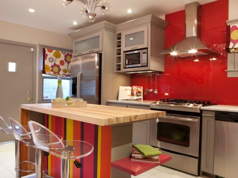 Cocinas en rojo treinta y ocho dise os ardientes for Colores para gabinetes de cocina