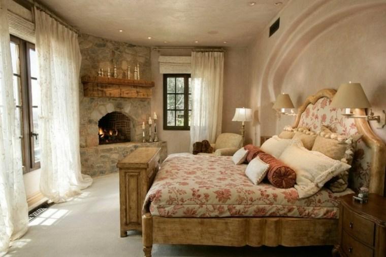 original diseño cuarto chimenea leña