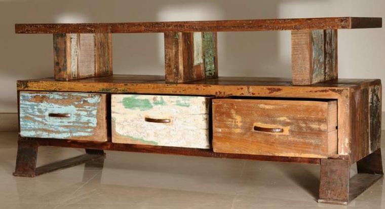 original diseño mueble madrea cajones