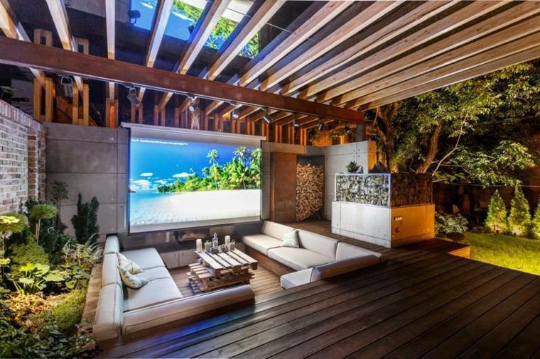 Resultado de imagen para sala de estar al aire libre