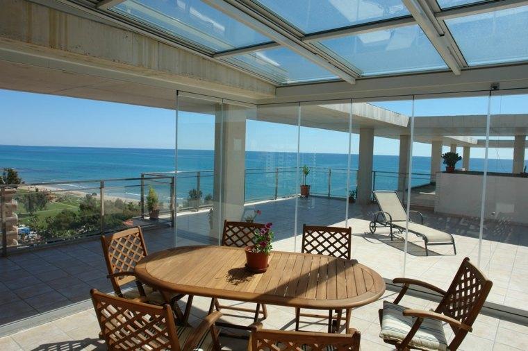 original diseño terraza acristalada